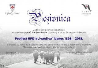 U Muzeju planinarstva predavanje prof. Marijana Kraša Povijest HPD-a Ivančica 1898. – 2018.