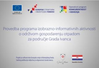 Danas i sutra (17. i 18. svibnja) na VTV-u 5. tematska emisija o održivom gospodarenju otpadom na području grada Ivanca