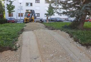 IVANEC  Počeli radovi na uređenju pješačke veze Nazorova – Šabanova ulica