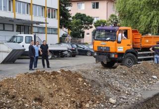 Gradonačelnik Ivanca M. Batinić sa suradnicima u obilasku gradilišta na području grada Ivanca