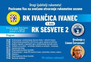 U subotu, 14. rujna, RK Ivančica velikom manifestacijom otvara novu rukometnu sezonu