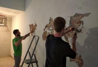 KLUB MLADIH  Buduće okupljalište u bivšem Retru ukrasili muralom s prikazom karte svijeta
