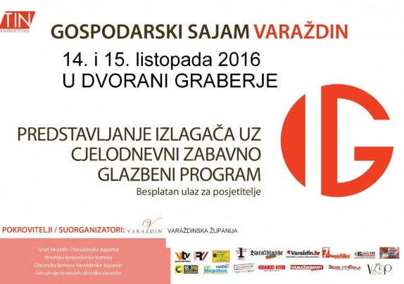 Poziv poduzetnicima, obrtnicima i OPG-ovima za zajednički nastup i sudjelovanje na Gospodarskom sajmu u Varaždinu 14. i 15. listopada