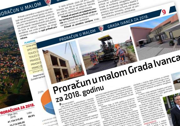 Proračun u malom Grada Ivanca za 2018. godinu