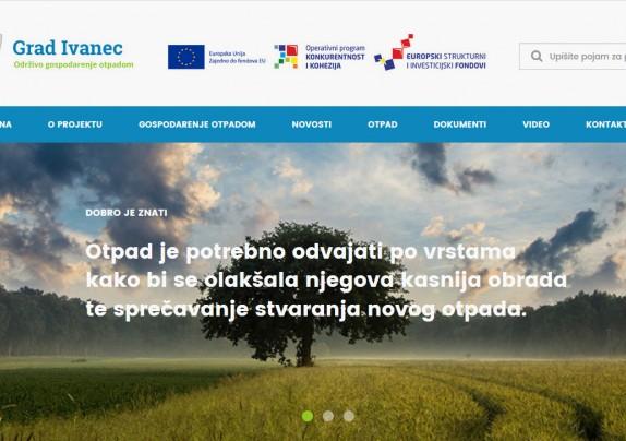 EU PROJEKT: Za sve što  trebate znati o pravilnom gospodarenju otpadom - kliknite na www.otpad.ivanec.hr