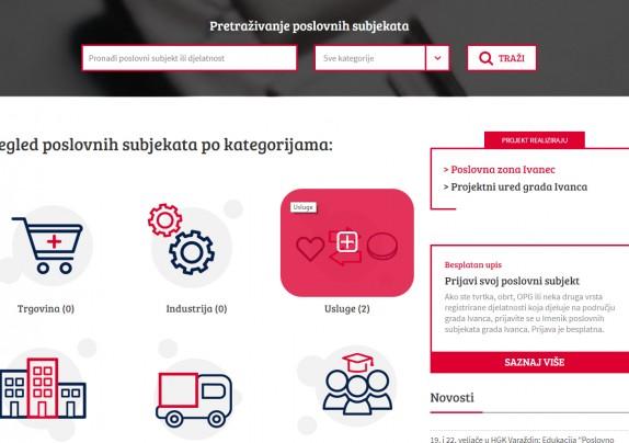 NOVO: ONLINE KATALOG POSLOVNIH SUBJEKATA – besplatno mjesto web promocije ivanečkog gospodarstva