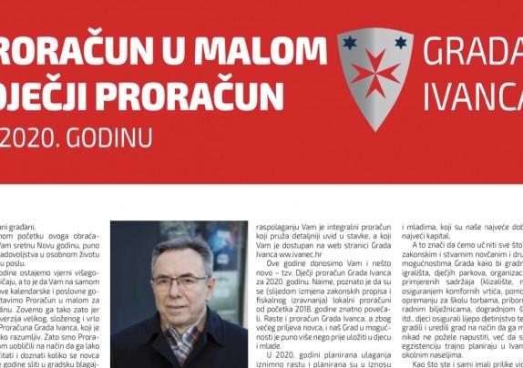 Proračun u malom Grada Ivanca i Dječji proračun za 2020. godinu