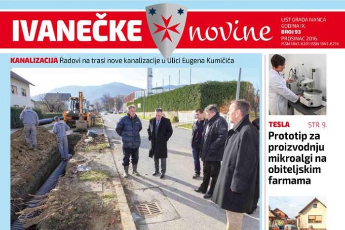 Uz novi broj Ivanečkih novina, svim građanima stiže i poklon Grada – kalendar za 2017.