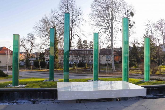 NA TRGU HRVATSKIH IVANOVACA Obnovljeno spomen obilježje poginulima u Domovinskom ratu