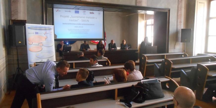 """Završna press konferencija Srednje škole Ivanec o provedbi EU projekta """"Suvremene metode u nastavi"""""""