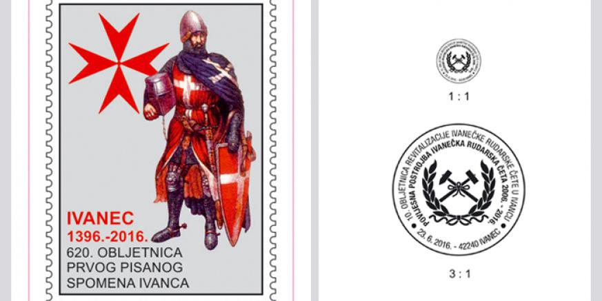 Prigodni poštanski žig i Pepeljuga (Cinderella) u povodu 620. obljetnice Ivanca