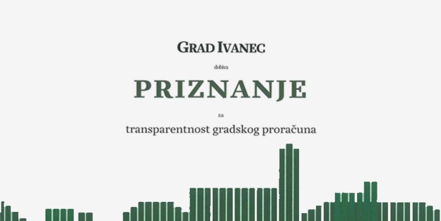 Gradu Ivancu pristigle čestitke i pismeno priznanje Instituta za javne financije!