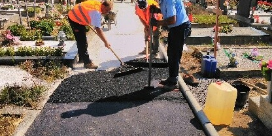 Asfaltirano 250 četvornih metara staze na groblju Margečan, slijedi asfaltiranje parkirališta