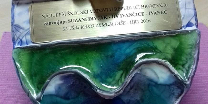 Ravnateljici Vrtića Suzani Divjak posebna nagrada HRT-a