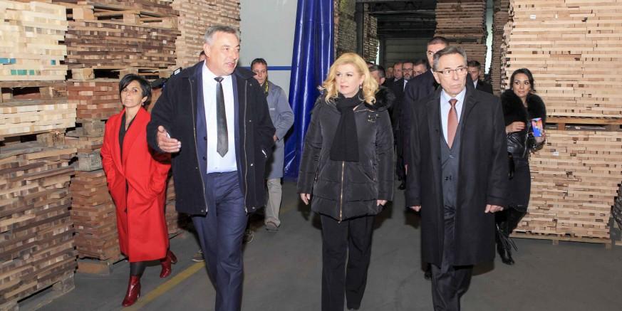 Predsjednica RH Kolinda Grabar Kitarović danas posjetila ivanečki Drvodjelac