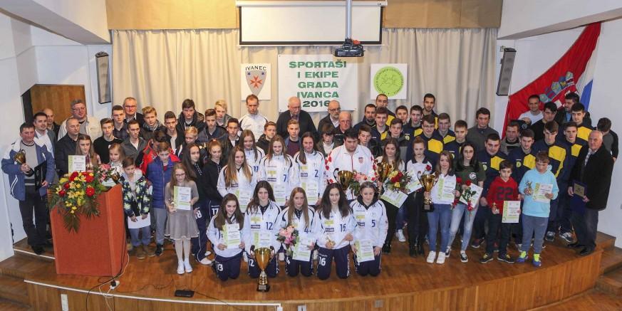 Zajednica sportskih udruga proglasila najbolje sportaše grada Ivanca u 2016.