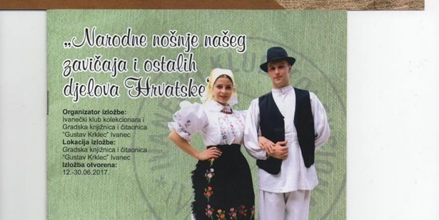 """U ponedjeljak, 12. 06., izložba """"Narodne nošnje našeg zavičaja i ostalih dijelova Hrvatske"""""""