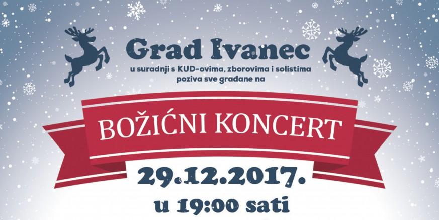 Grad Ivanec i KUD-ovi pozivaju vas na veliki Božićni koncert u petak, 29. prosinca