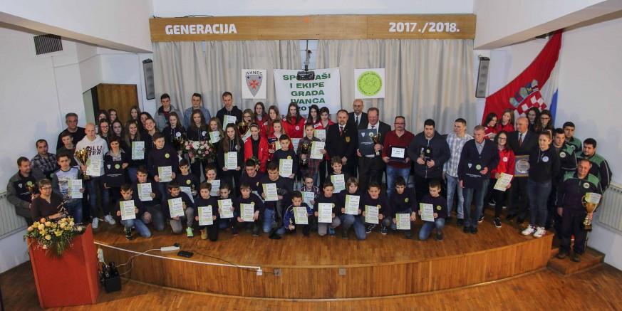 Zajednica sportskih udruga: Proglašeni najbolji sportaši i ekipe grada Ivanca u 2017.