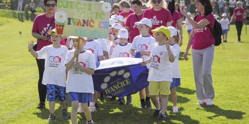 Na 8. olimpijskom festivalu dječjih vrtića Ivanec 2018. gotovo 300 malih olimpijaca