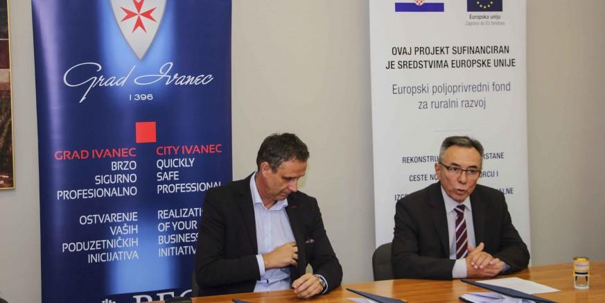 Grad Ivanec i Colas d.d.: Potpisana tri ugovora o realizaciji projekata vrijednih 9,2 mil. kuna!