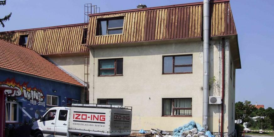 Počeli radovi na sanaciji krovišta poslovne zgrade u Vladimira Nazora 6,  u sklopu projekta razvoja Poduzetničkog inkubatora