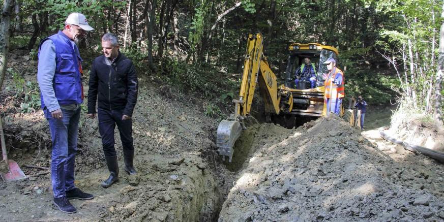 Završeni radovi iz programa za 2018.: Sagrađeno 1,6 km vodovoda Žgano vino – Pahinsko
