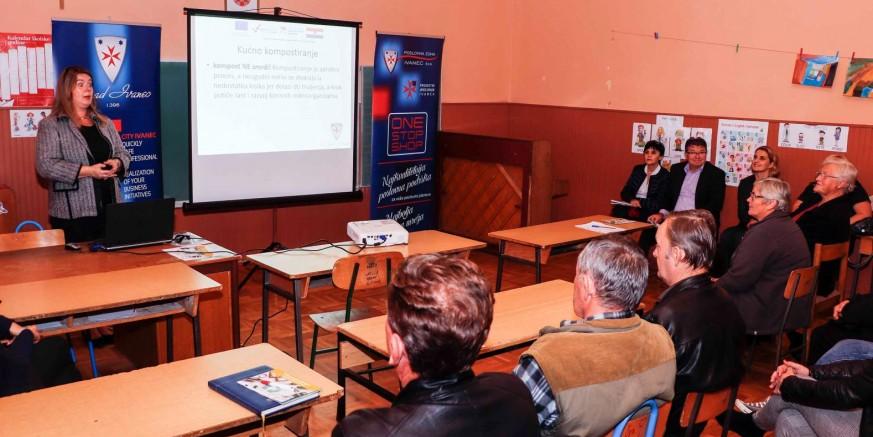 Održana tribina o gospodarenju otpadom za Prigorec, Vitešinec i I. Željeznicu; danas edukacija za Horvatsko, D. Jerovec i R. Breg