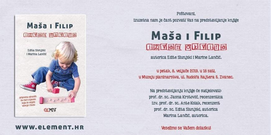 """U  petak, 8. veljače, predstavljanje knjige E. Slunjski i M. Lančić """"Maša i Filip – izvan okvira"""""""