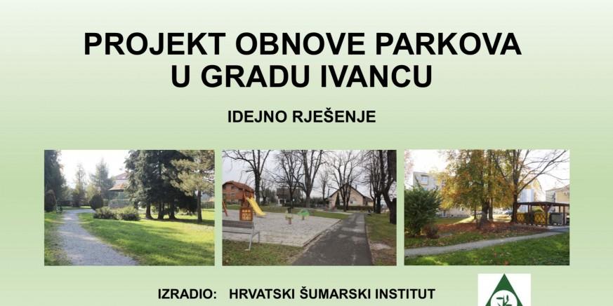 U utorak, 5. ožujka, javno predstavljanje projekta obnove parkova i zelenih zona u Ivancu