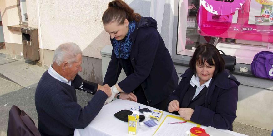 SVJETSKI DAN ZDRAVLJA  Stotinu građana Ivanca odazvalo se mjerenju tlaka i šećera u krvi