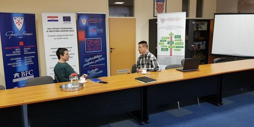 """EU PROJEKT """"Poslovni anđeo"""" D. Štetner nastavlja s individualnim mentoriranjem ivanečkih poduzetnika"""