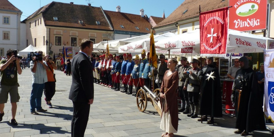 Ivanečki vitezovi ivanovci na Špancirfestu i na proslavi 265. obljetnice Varaždinske građanske garde