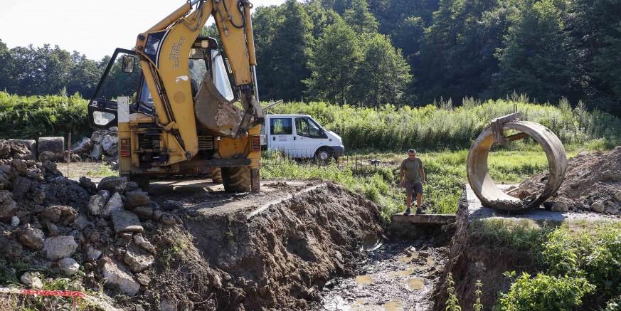 Započela izgradnja mosta na županijskoj cesti u Lukavcu