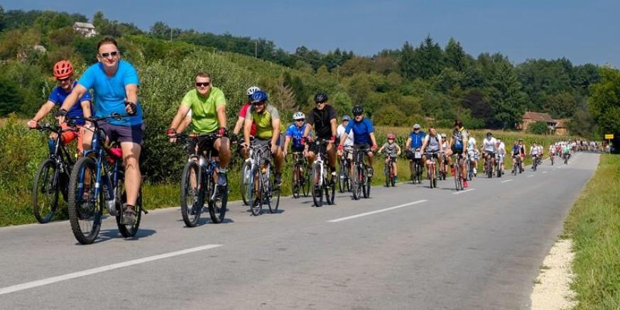 94 biciklista na 8. biciklijadi DŠR-a Salinovec Med skrajski bregi