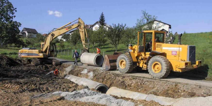 Počela je gradnja oborinsko – sanitarne  kanalizacije u Vuglovcu i Gečkovcu vrijedna 593.000 kuna