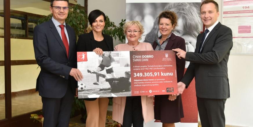 PBZ Grupa donirala gotovo 350.000 kuna Odgojnom domu Ivanec