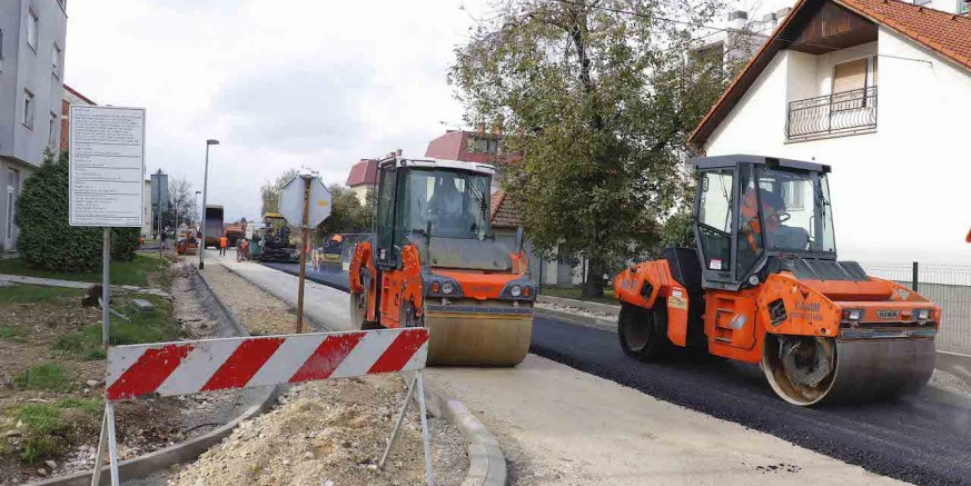 Počelo asfaltiranje Gajeve ulice, u završnoj fazi modernizacijski radovi vrijedni 685.000 kuna
