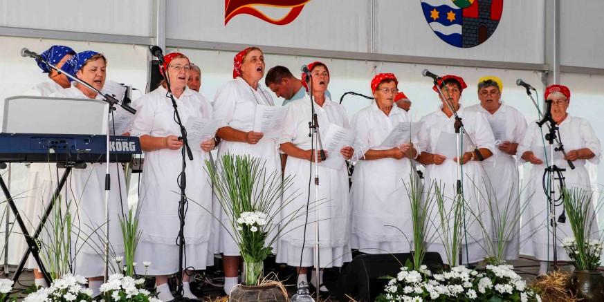 Kod Gradske vijećnice danas božićne pjesme pjeva zbor župe sv. Margarete iz Margečana