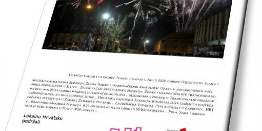 Lokalna Hrvatska u Novu godinu ušla s naslovnicom s fotografijom preuzetom s weba Grada Ivanca