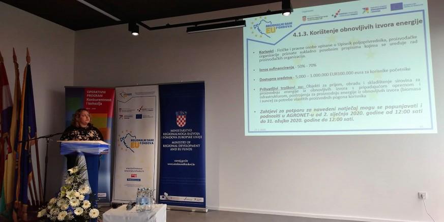 Poslovna zona Ivanec d.o.o. edukator na Regionalnim danima EU fondova u Garešnici