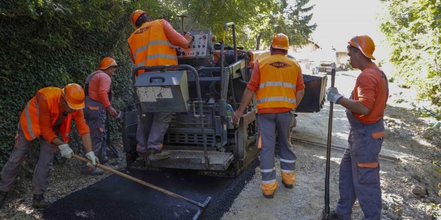 ZAVRŠENI SANACIJSKI RADOVI Asfaltirana cesta uz klizišta na nerazvrstanoj cesti Prigorec – Željeznica