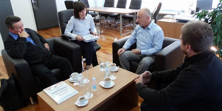 Ivanečki branitelji na prijemu kod ministra Predraga Freda Matića
