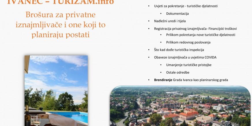 """Poslovna zona Ivanec izradila """"Brošuru za privatne iznajmljivače i one koji to planiraju postati"""""""