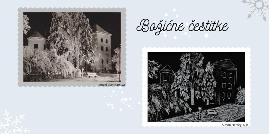 MUZEJ PLANINARSTVA Motivi Ivanca i Ivančice na božićnim čestitkama ivanečkih osnovnoškolaca