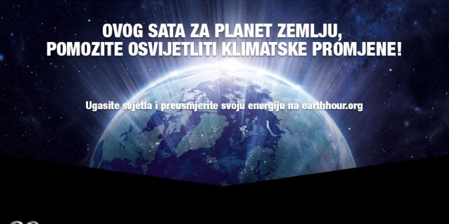 SAT ZA PLANET ZEMLJU – PRIDRUŽITE SE! U subotu na jedan sat ugasite svjetla za planet Zemlju!