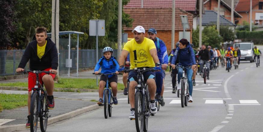 DŠR SALINOVEC Blizu stotinu biciklista sudjelovalo na jubilarnoj 10. biciklijadi